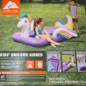 🦄 Kid's Unicorn Airbed! New, never opened! 🦄
